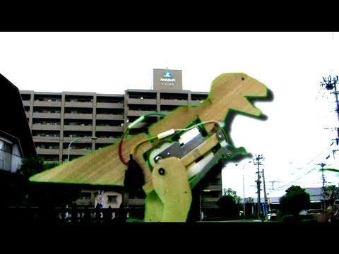 Big Wooden Robotic Dinosaur