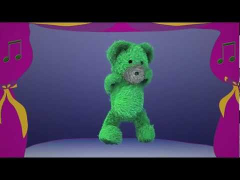 Green Dancing Bear on Stage - Kids' Music by DidiPop