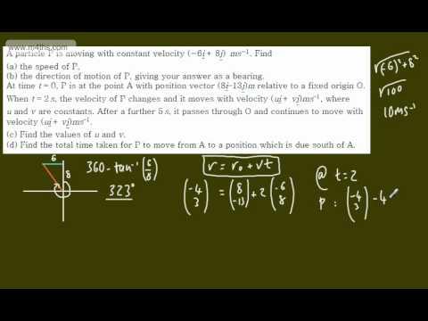 (8) M1 Exam Questions - Vectors - Even more ships