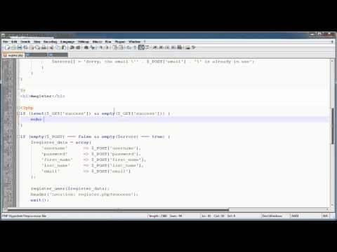 PHP Tutorials: Register & Login (Part 11): Register Users (Part 2)