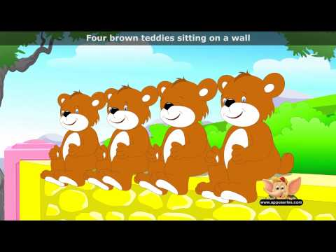 Five Brown Teddies - Nursery Rhyme with Lyrics and Sing Along