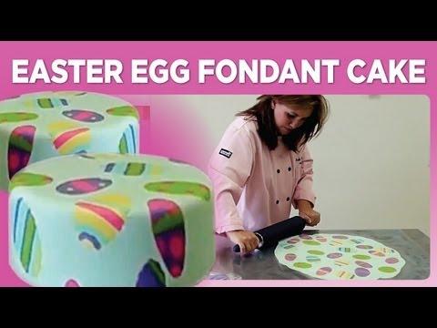 Easter Egg Fondant Cake