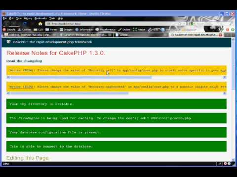 Cakephp Blog Tutorial Part 1 - Installation