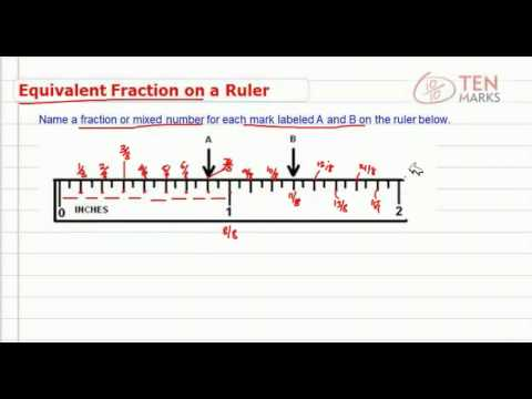 Equivalent Fractions on a Ruler