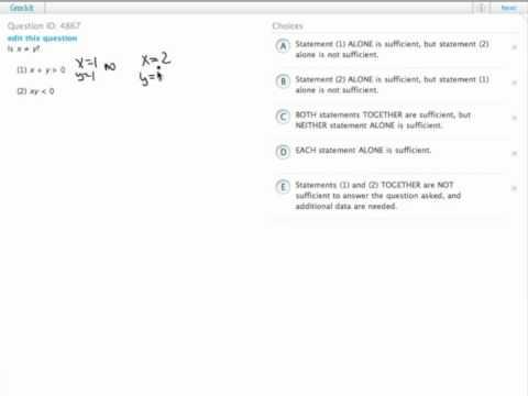 Grockit GMAT Quantitative - Data Sufficiency: Question 4867