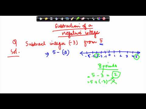 1031. Subtraction of negative integers
