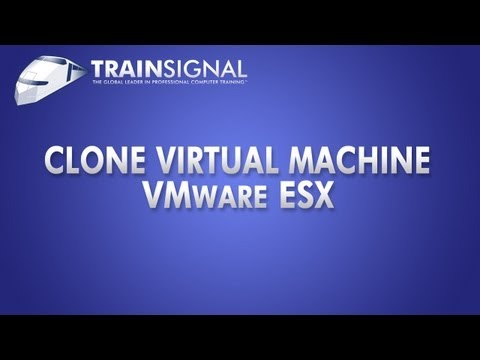 Clone a Virtual Machine In VMware ESX Server