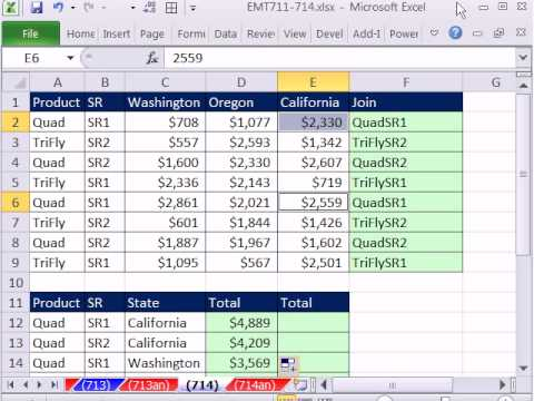 Excel Magic Trick 714: Three Criteria Lookup Adding SUMIF, INDEX, MATCH, SUMPRODUCT (2 examples)
