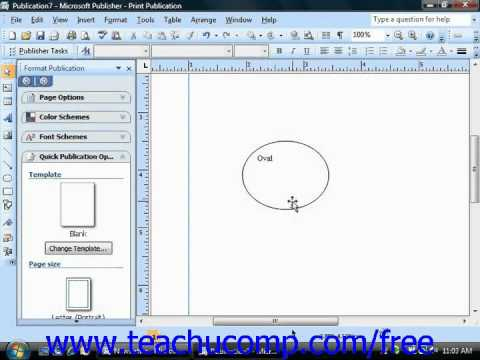 Publisher 2003 Tutorial Adding Text to Shapes Microsoft Training Lesson 3.2