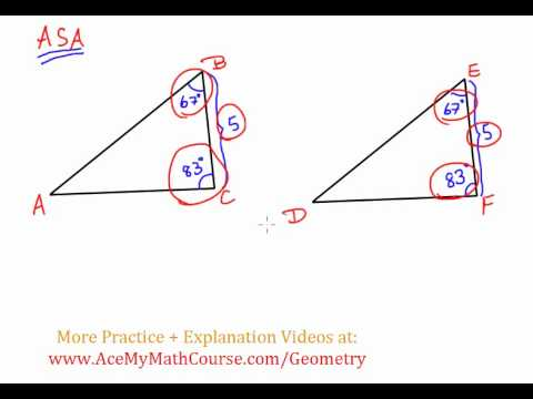 Geometry - Triangle Congruency: ASA (Angle Side Angle)