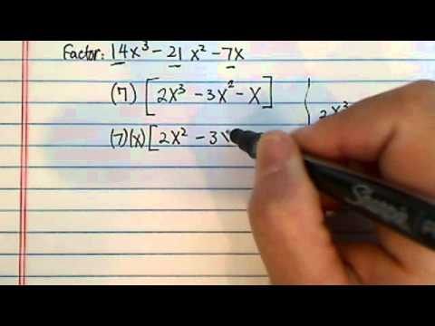 how to factor polynomials?  14x^3 - 21x^2 - 7x