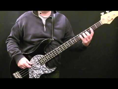 How To Play Bass Guitar to Walking On the Moon - The Police - Sting