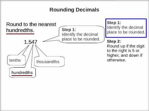 How to Round Decimals