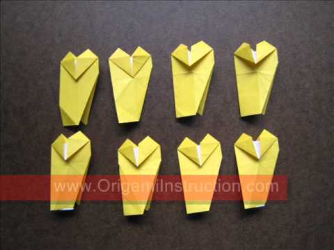 How to Fold Origami Heart Wheel - OrigamiInstruction.com