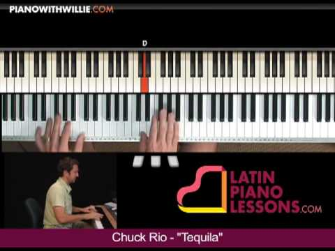 Chuck Rio - Tequila Lick #1 - Piano lesson sample from PianoWithWillie.com