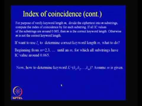 Mod-01 Lec-06 Cryptanalysis of Classical Ciphers