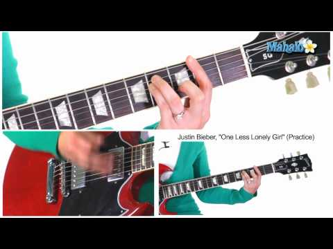 "How to Play ""One Less Lonely Girl"" by Justin Bieber on Guitar (Practice)"