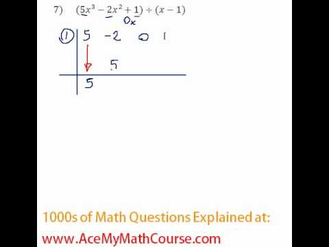 Polynomials - Synthetic Division Question #7