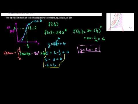 2011 Calculus AB Free Response #3 (a & b)