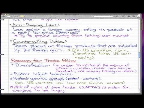 Macroeconomics - 78: Trade Policy