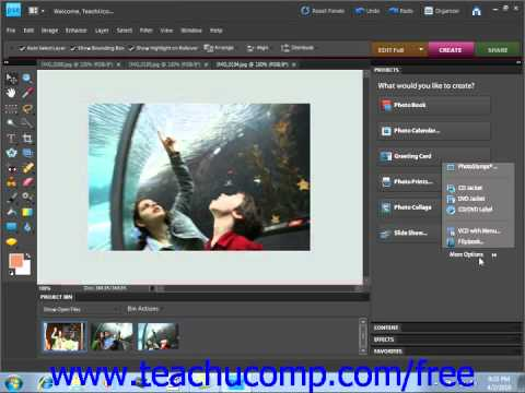 Photoshop Elements 9.0 Tutorial Online Services Adobe Training Lesson 16.3