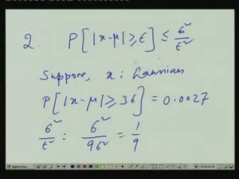 Lecture - 27 Thebycheff Inquality and Estimation