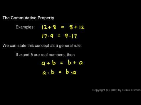 Algebra 1  2.01a - The Commutative Property