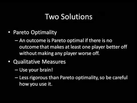 Game Theory 101: Comparing Outcomes and Pareto Optimality (Efficiency)