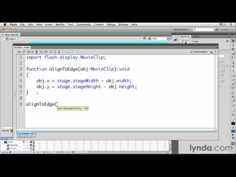 ActionScript tutorial: Placing objects on the Flash stage | lynda.com