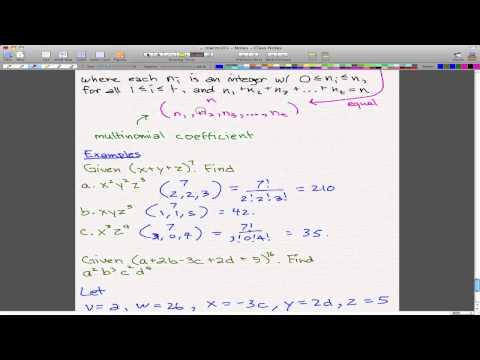 Discrete Math 1 - Tutorial 10 Multinomial Theorem Examples