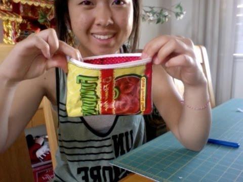 Recycled Chip Bag Pouch Tutorial