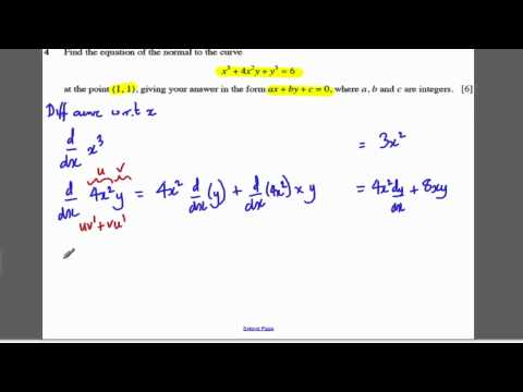 Core 4 OCR Jan 2008 Q4 - Implicit Differentiation (2)