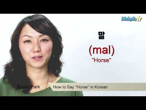 """How to Say """"Horse"""" in Korean"""