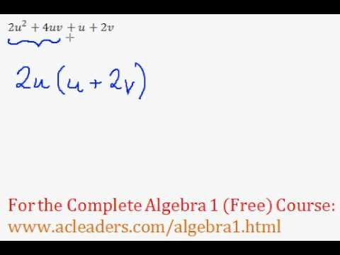 Polynomials - Factoring by Grouping Question #7