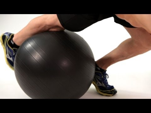 Knee Tucks on Exercise Ball | Home Ab Workout for Men