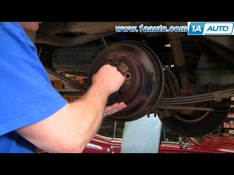 How To Install Replace Rear Disc Brakes Ford Explorer Mountaineer 95-02 Part 2 - 1AAuto.com