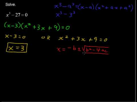 How to Solve Factorable Cubic Equations - Precalculus Tips
