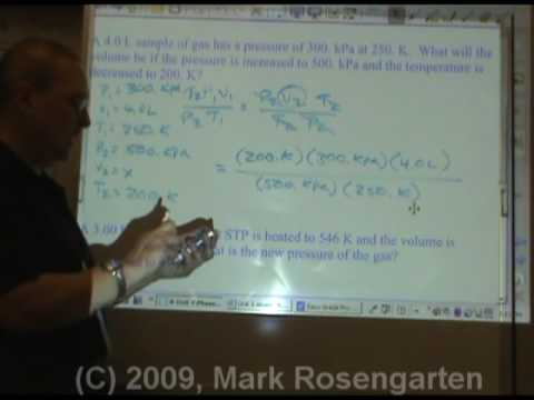 Chemistry Tutorial 7.05c:   Solving Gay-Lussac's and Combined Gas Law Problems