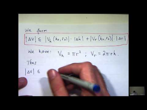 Partial derivatives and error estimation