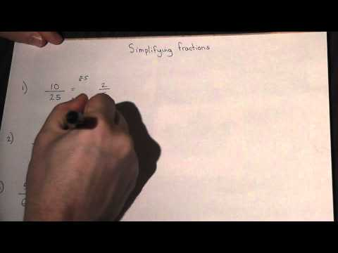 Simplifying Fractions by cancelling - GCSE and KS3 Maths revision video