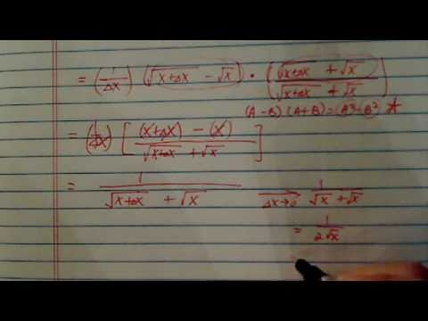 Difference quotient [ f(x+h)-f(x)/h] -- part 3 of 3: Examples
