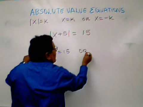 ABSOLUTE VALUE EQUATION