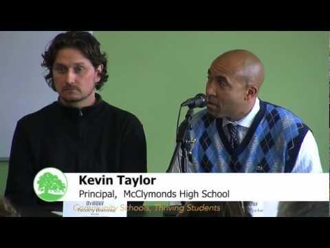 McClymonds Principal Kevin Taylor Endorses Acceleration High School Plan