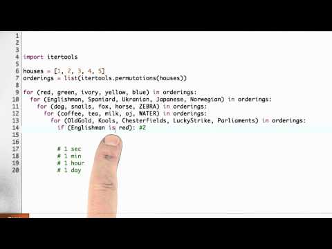 Red Englishman Solution - CS212 Unit 2 - Udacity