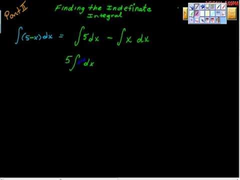 Basic Indefinite Integration (sum and Diff) Pt I AP Calculus AB