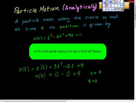 Particle Motion (Analytically) Part One.