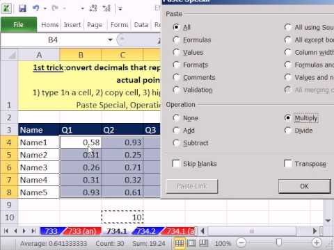 Excel Magic Trick 734: Downloaded Decimal (Percentage) Grades into Actual Integer Grades