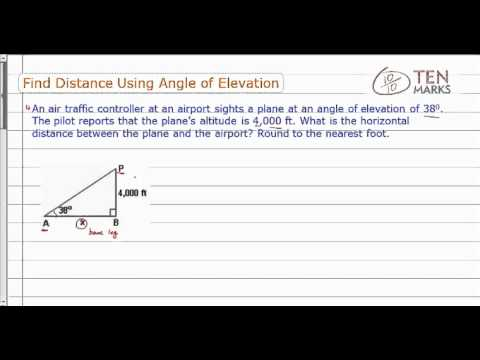 Find Distance Using Angle of Elevation