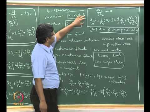 Mod-02 Lec-06 Kinematics of deformation in fluid flow; Stress vs strain rate relation