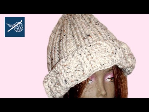 Left Hand Crochet - Crochet Cuff Cable Cap - Cedar - Left Hand Version